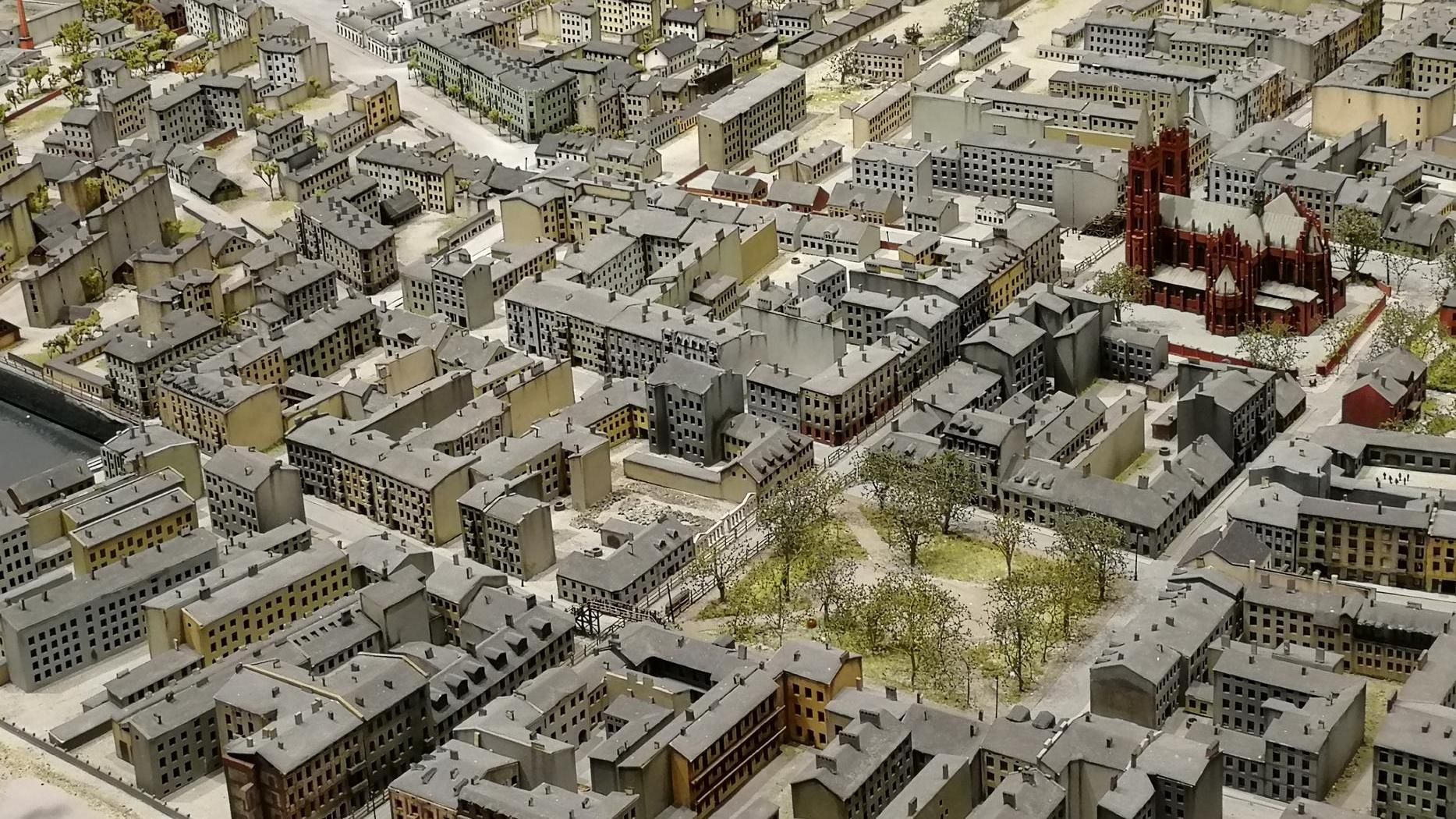 Scale model of Litzmannstadt Ghetto , fot. P. Miłek/ŁOT